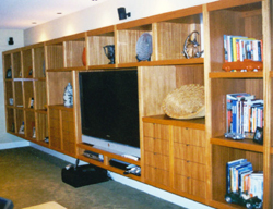 Custom Built In Bookcases, Media Centers, Window Seats for Vancouver, Washington and Portland, Oregon